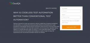 Code-less Test Automation